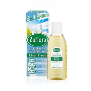 Zoflora Concentrated Disinfectant, 120ml, Linen Fresh - Pack of 3