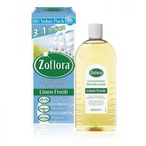 Zoflora Concentrated Disinfectant, 500ml, Linen Fresh  - Pack of 3