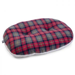 Zoon Cushion Dog Bed - Red Plaid