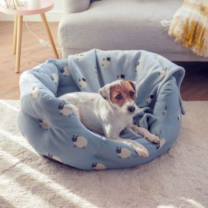 Zoon Oval Dog Bed - Counting Sheep