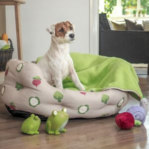 Zoon Oval Dog Bed - Veggie Patch