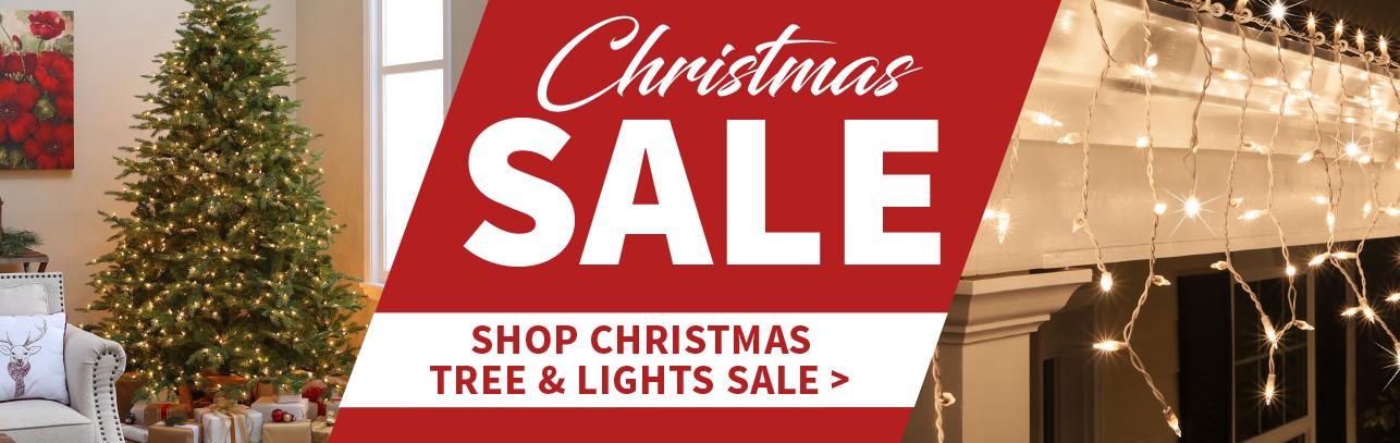 Christmas Trees & Lights Sale